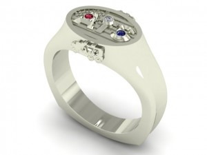 14K White Gold ATS Signet Ring